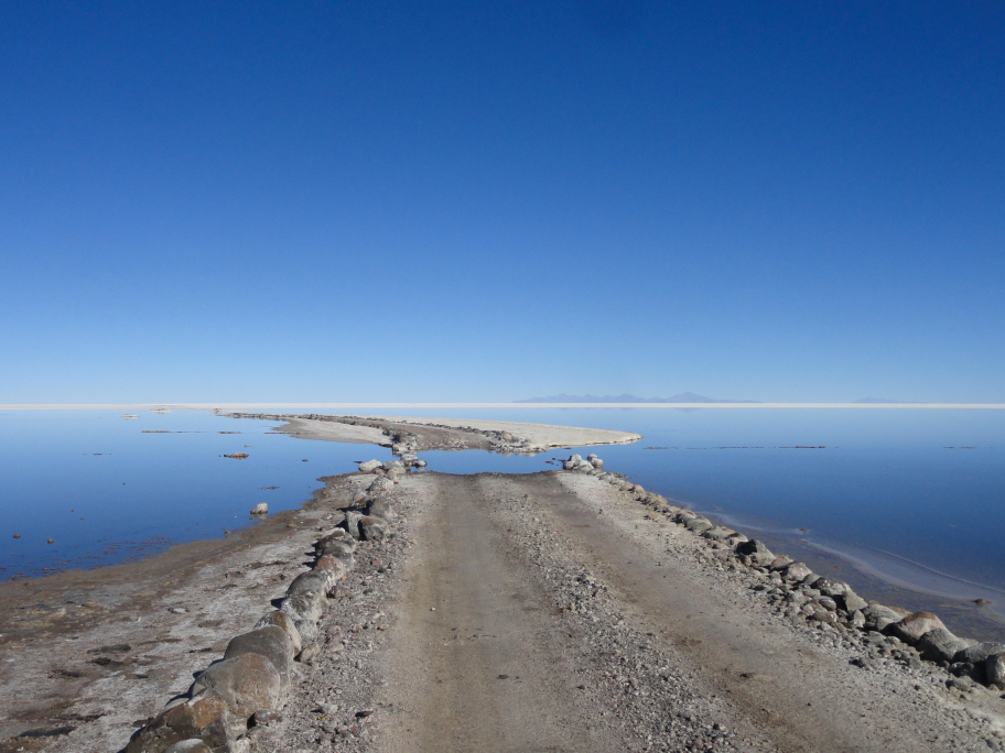 Bolivian Salt Flats Road