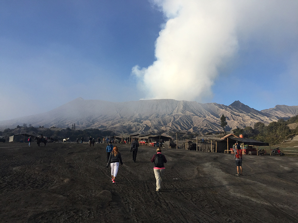 Approaching Bromo Volcano